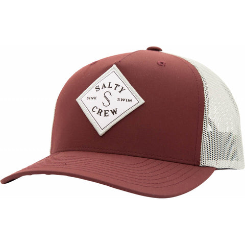 Salty Crew Sea Line Retro Trucker in Burgundy