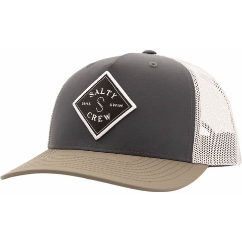 Salty Crew Sea Line Retro Trucker in Stealth/Grey
