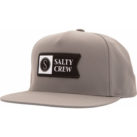 Salty Crew Alpha Tech 5 Panel in Grey