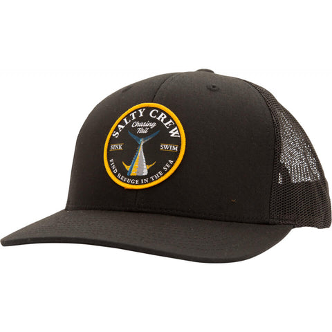 Salty Crew Bottom Dweller Retro Trucker in BLACK