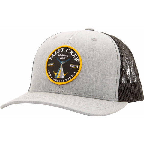 Salty Crew CAPS Bottom Dweller Retro Trucker in Heather Grey/Black