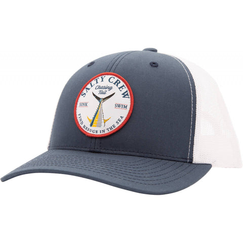 Salty Crew Bottom Dweller Retro Trucker in Navy/White