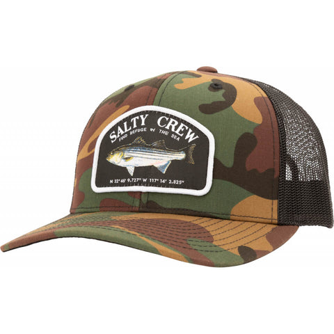 Salty Crew STRIPER RETRO TRUCKER in Camo