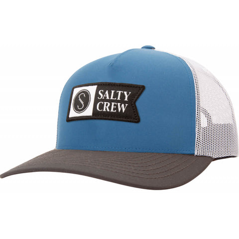 Salty Crew PINNACLE 2 RETRO TRUCKER in Blue/Grey