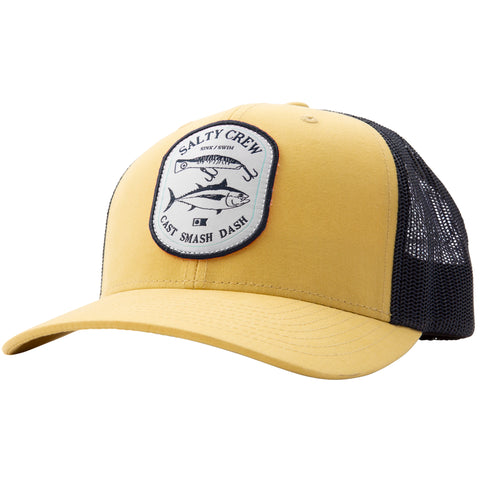 Salty Crew SURFACE RETRO TRUCKER in GOLD/NAVY