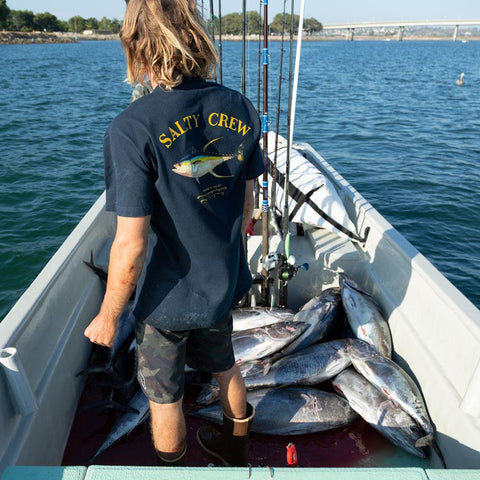 Salty Crew Ahi Mount S/S Tee in Navy