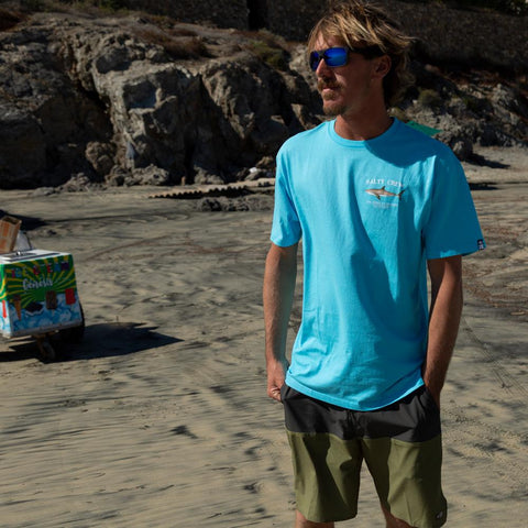 Salty Crew Bruce Premium S/S Tee in PACIFIC BLUE