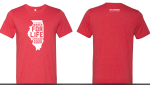 Red March for Life Chicago Shirt