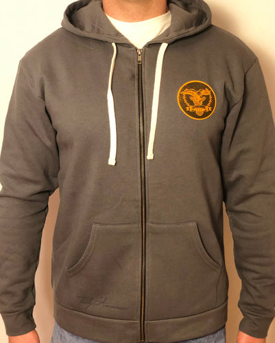 Grey Full Zip Hoody