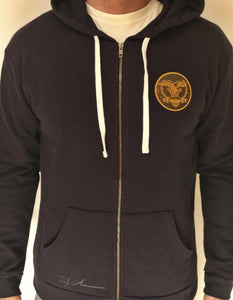 Navy Blue Full Zip Hoody
