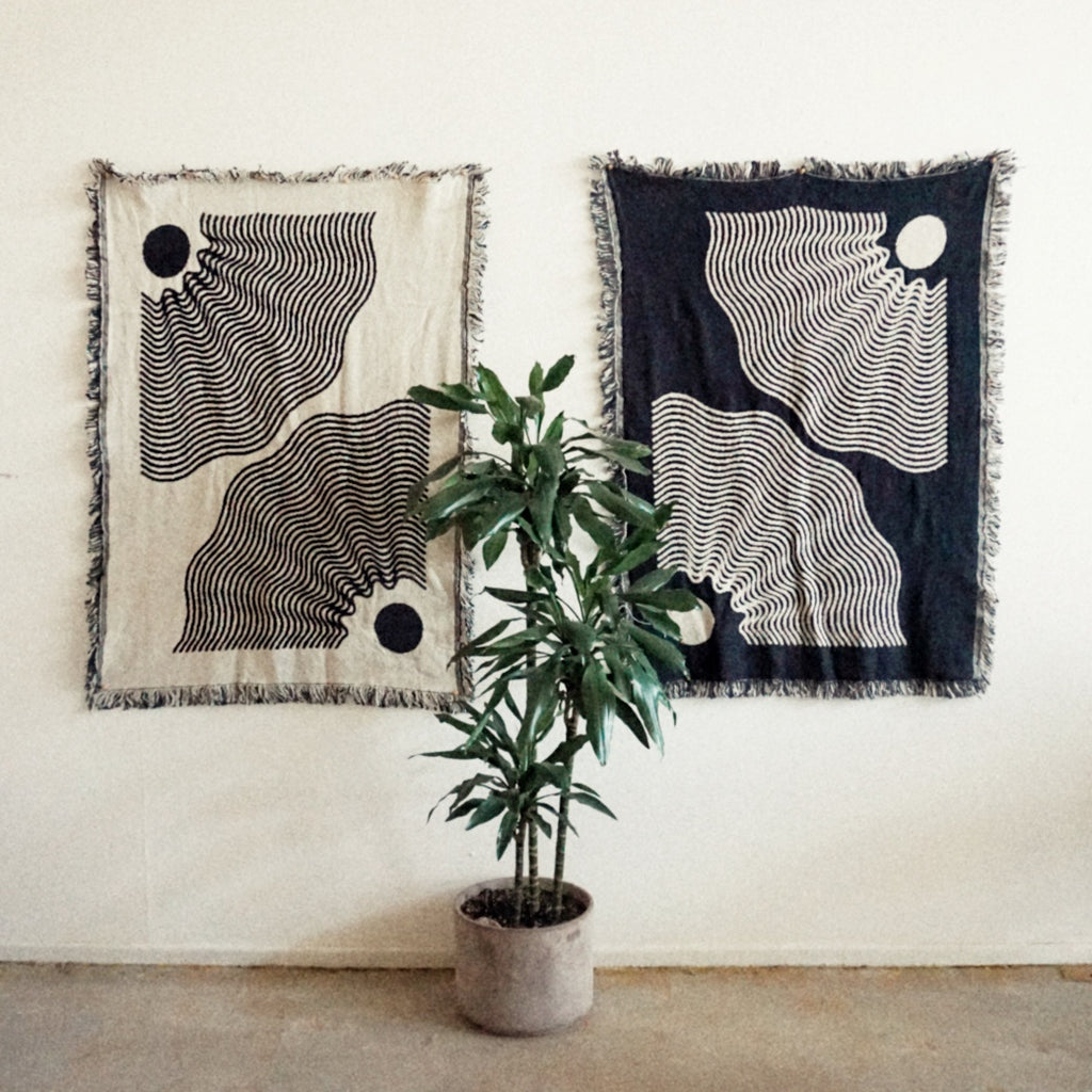 'Balanced Delicately' Reversible Throw Blanket