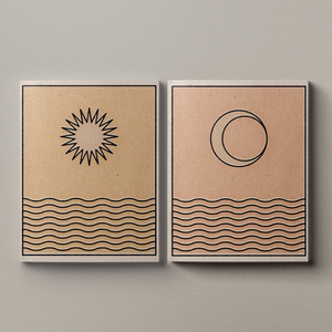 'Sun/Moon Over Water' Print Set