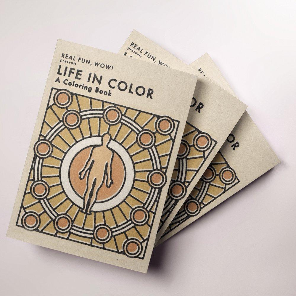 'Life In Color' PHYSICAL Coloring Book