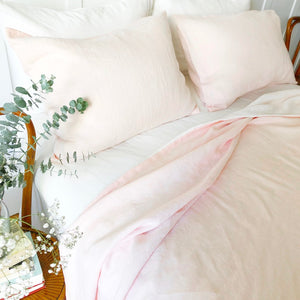 Linen Pillow Case - Powder Rose