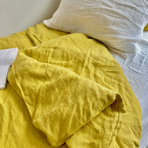 Duvet Cover - Mustard Yellow