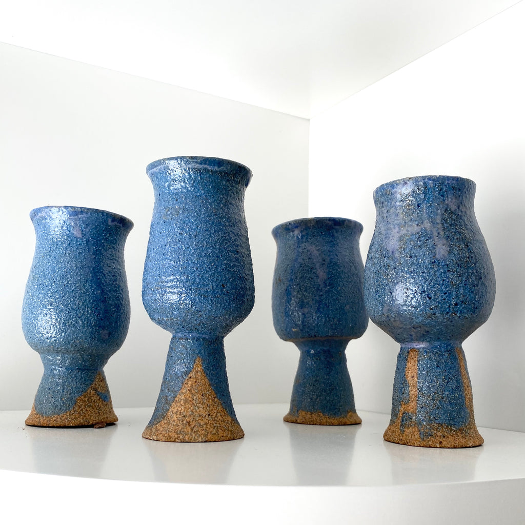 4 Glazed Mini Vases