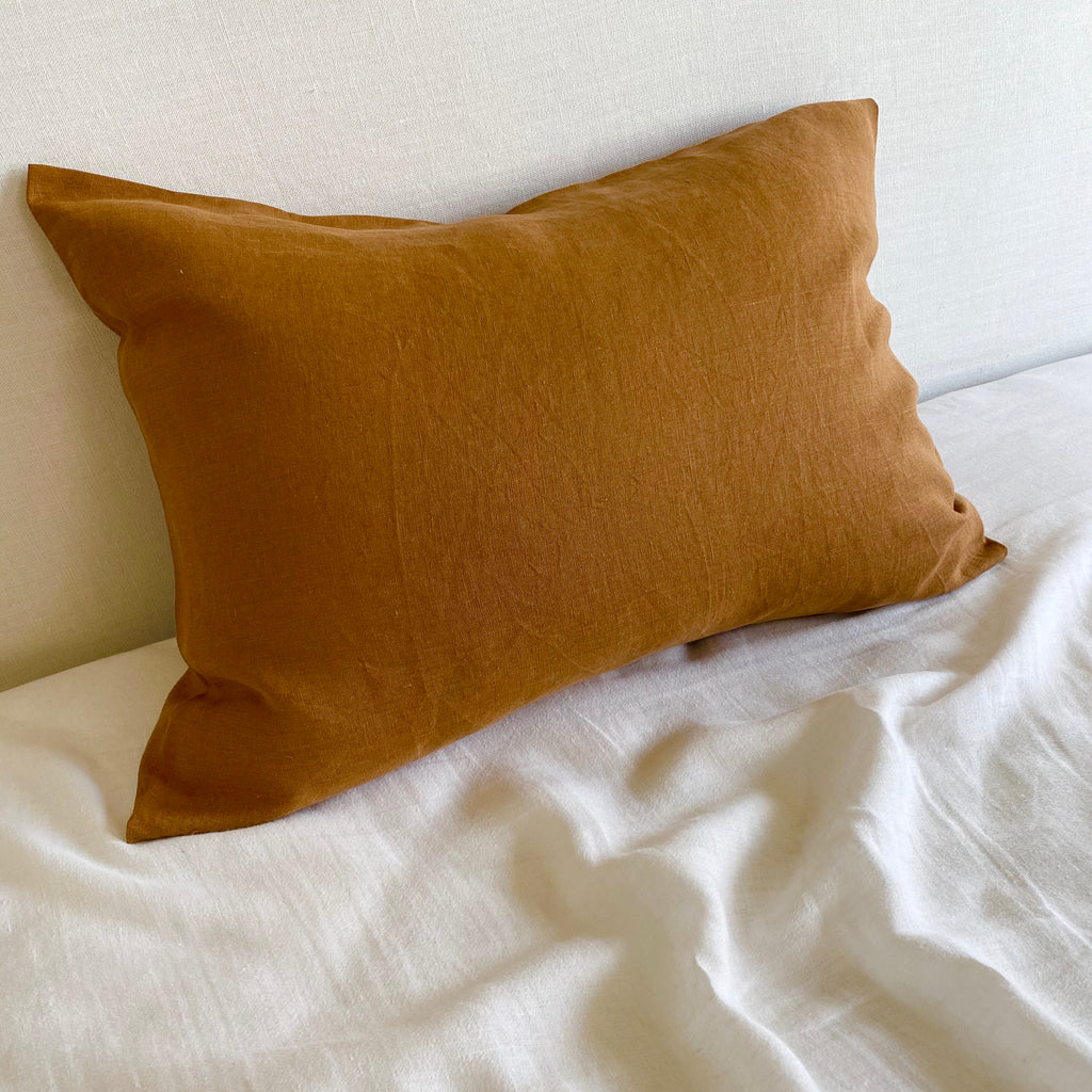 Linen Pillow Case - Cinnamon