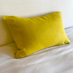 Linen Pillow Case - Mustard Yellow