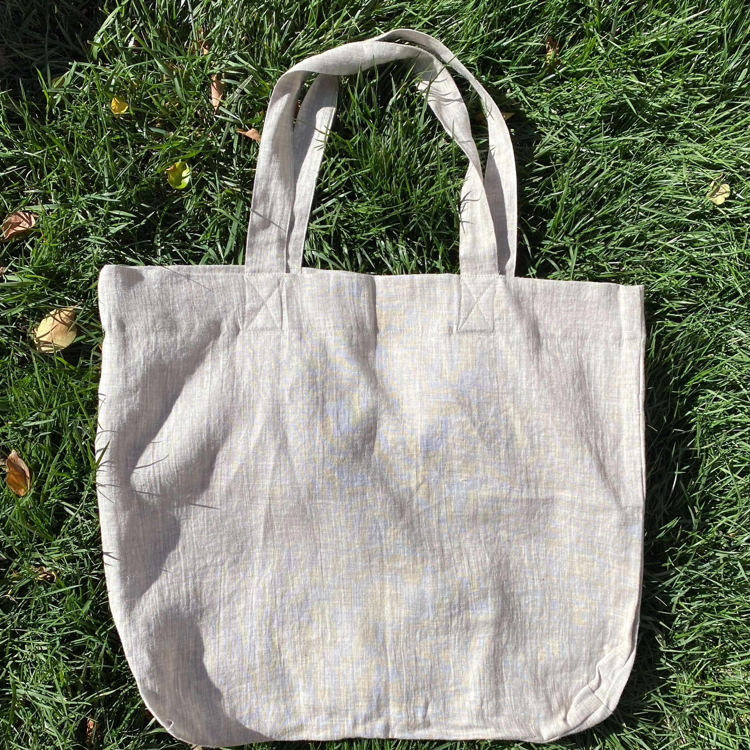 Linen Tote Bag - Natural Linen Melange