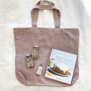 Linen Tote Bag - Antique Rose