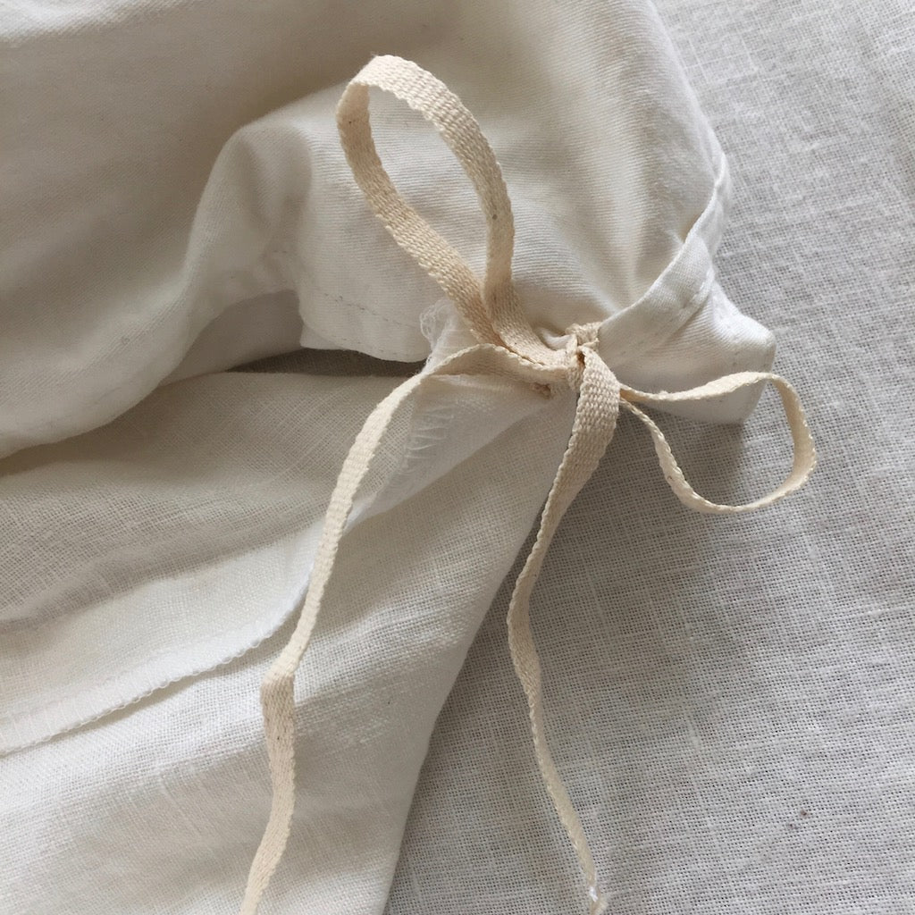 Duvet Cover - Natural Linen & Ivory