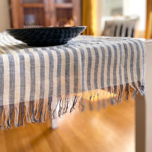 Universal Cloth in Blue Stripe - Table Cloth, Picnic Blanket, Towel