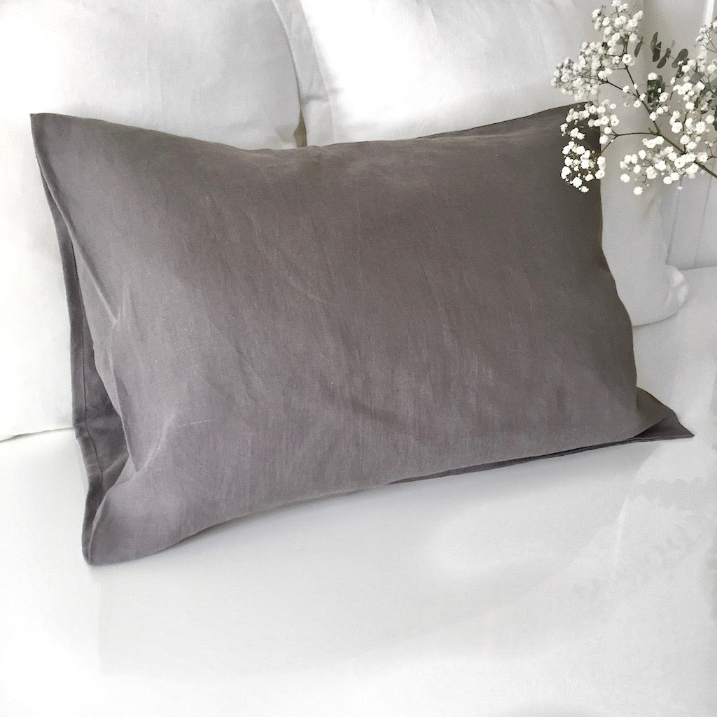 Linen Pillow Case - Charcoal