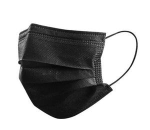 Black disposable face masks