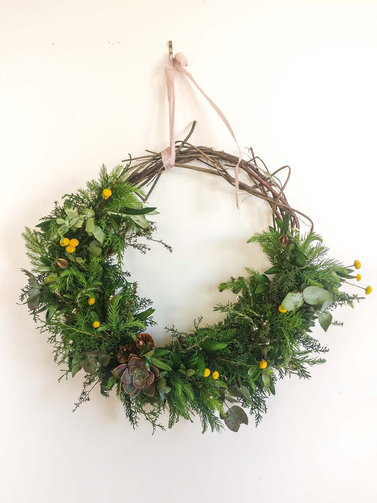 Where Rosemary Grows Wreath workshop Sustainable Florist New Zealand