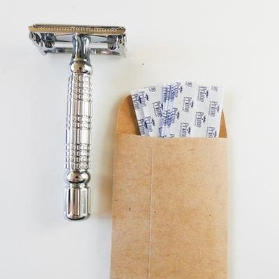 Stainless Steel Butterfly Safety Razor 'Flagship'