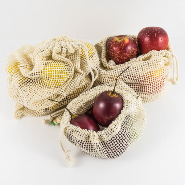 Rethink Organic Cotton Net Produce Bags NZ New Zealand Zero Waste