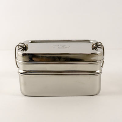 Stainless Steel Medium Double Layer Container