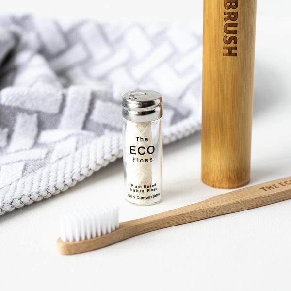 The Eco Floss Compostable dental floss glass packaging zero waste plastic free store NZ The Eco Society