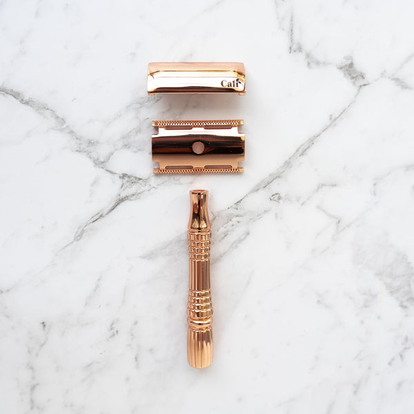 Copper Rose Gold Safety Razor Stainless Steel New Zealand Caliwoods The Eco Society