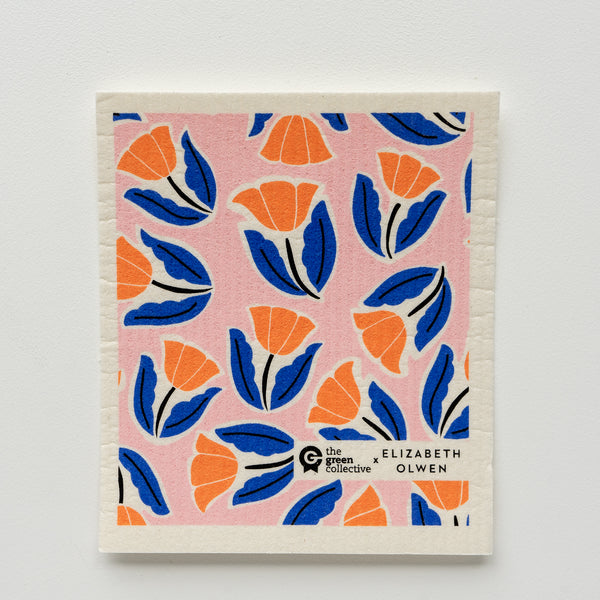 SPRUCE Compostable dish cloth Colourful Design Supports Climate Change  Elizabeth Olsen Flowers
