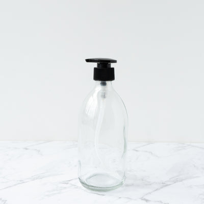 Clear Glass Bottle Pump - 500ml Plain