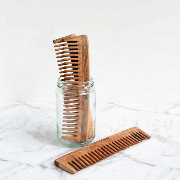 Wooden Comb Wide Teeth