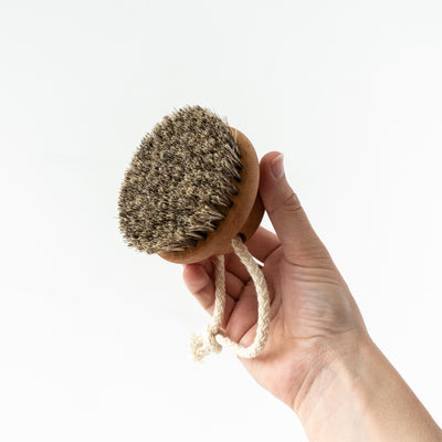 Dry Massage Brush Wood
