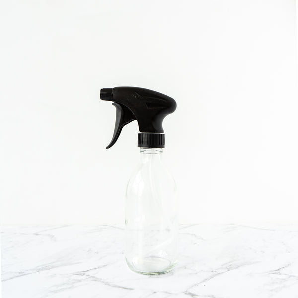 Clear Glass Bottle Trigger Spray 300ml Plain