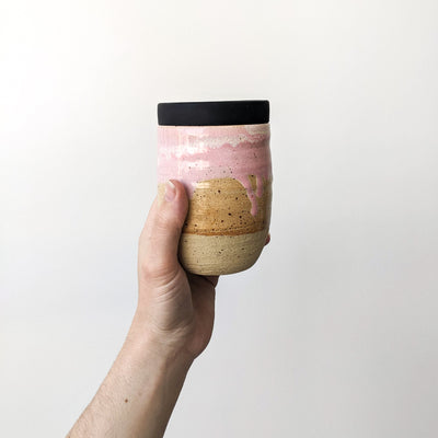 Ceramic Reusable takeaway cup Pastel pink