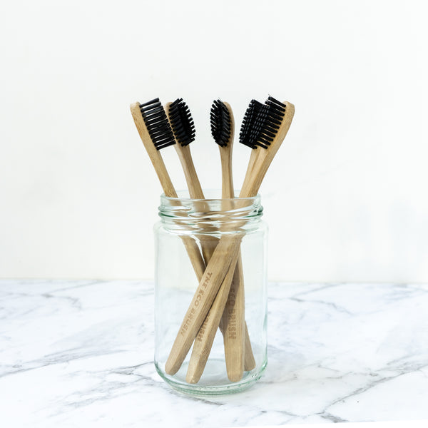 The Eco Brush Bamboo Toothbrush New Zealand NZ Zero Waste Plastic Free Store The Eco Society