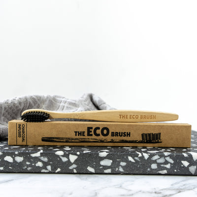 Bamboo Toothbrush Adult Charcoal Infused