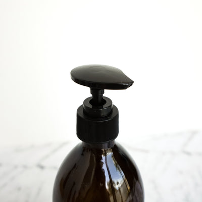 Amber Glass Bottle Pump 500ml Lotion
