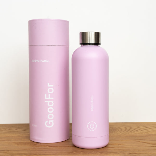 pink reusable drink bottle nz GoodFor Store lifetime bottle Zero Waste