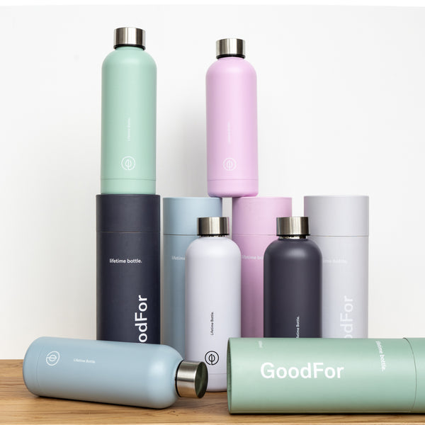 Reusable drink bottle NZ GoodFor Store lifetime bottle Zero Waste