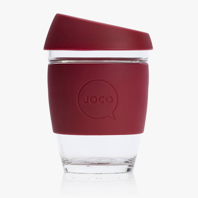 Glass Coffee Cup 12oz/354ml Wine Red
