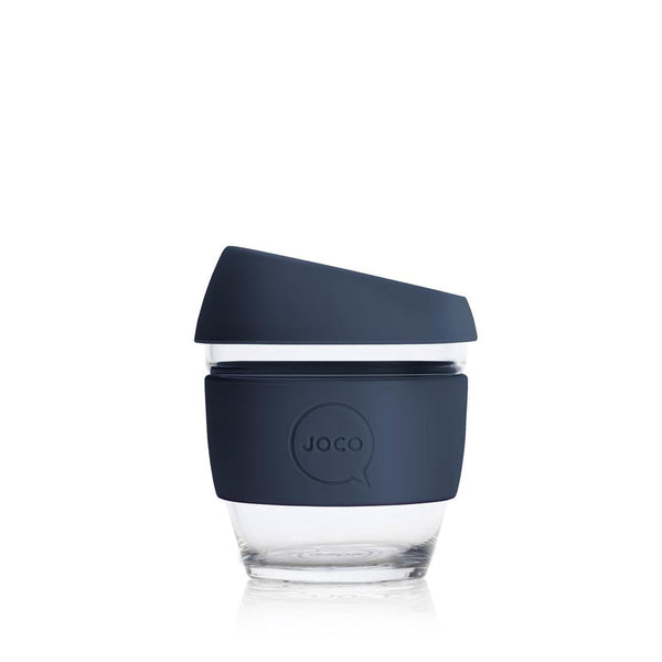 JOCO Glass Reusable Coffee Cup 4oz plastic free zero waste nz