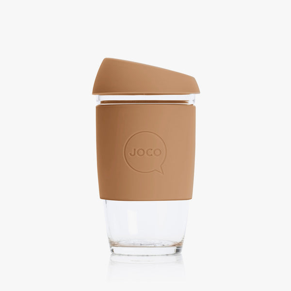 JOCO Glass Reusable Coffee Cup Butterum 6oz New Zealand