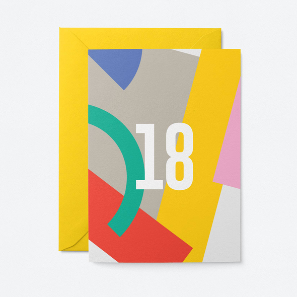 18 Card by Graphic Factory