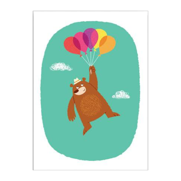 Gumo Bear Balloons Postcard by 1973